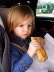 Morgan having the sausage roll addiction tended to!