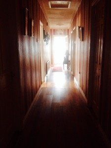 That long dark hallway at home.
